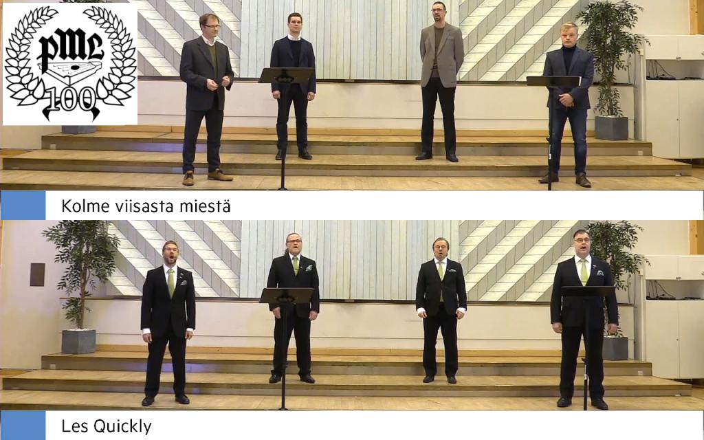 PML:n  Kolme viisasta miestä ja Les Quickly -kvartetit